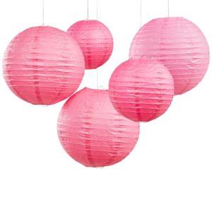 Lampions roze