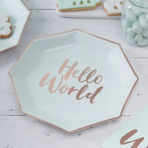 Borden Hello World mint groen rosé goud