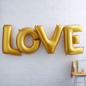 Folie ballon Love goud