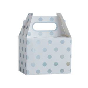 party box polka dot zilver stippen