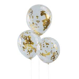 ballonnen goud confetti
