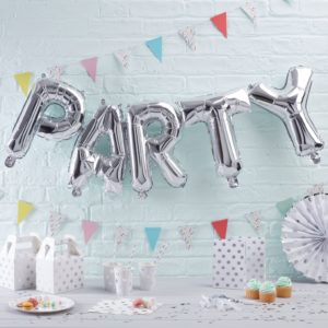 folie party ballon zilver