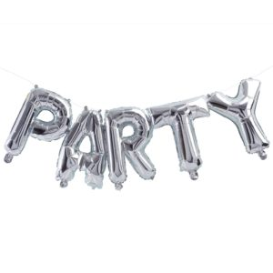 folie party zilver ballon
