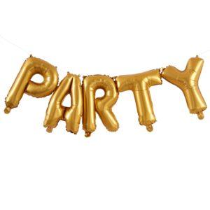 folie party ballon goud