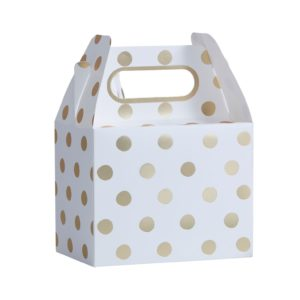 Party box polkadot goud