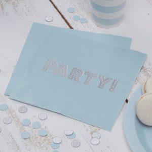 servetten pastel blauw Party