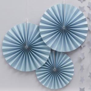 waaierset fan pastel blauw