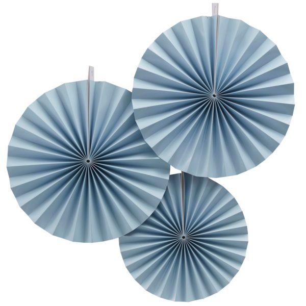 waaier fan pastel blauw