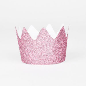 feestmuts kroontje roze glitter