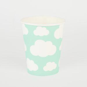 Beker wolk mint