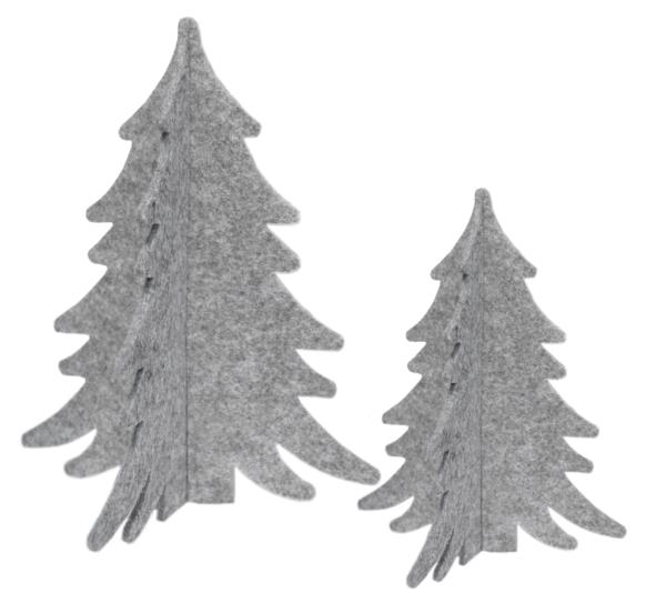 Kerstboompjes vilt grijs Nordic Home Collectie