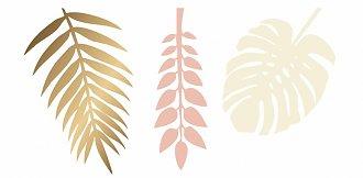 Goud zalm decoratie bladeren