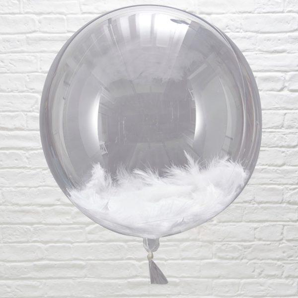 Met veren gevulde ballon
