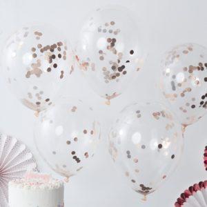 Rosé gouden confetti ballonnen
